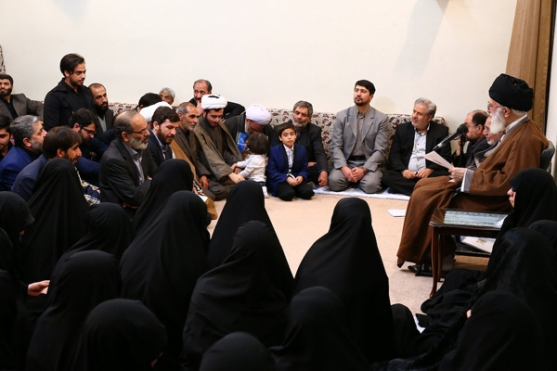 Families of martyred defenders of the Holy Shrine met with Imam Khamenei