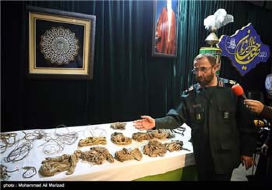 Photos: Iran Displays Body of Martyr Diver