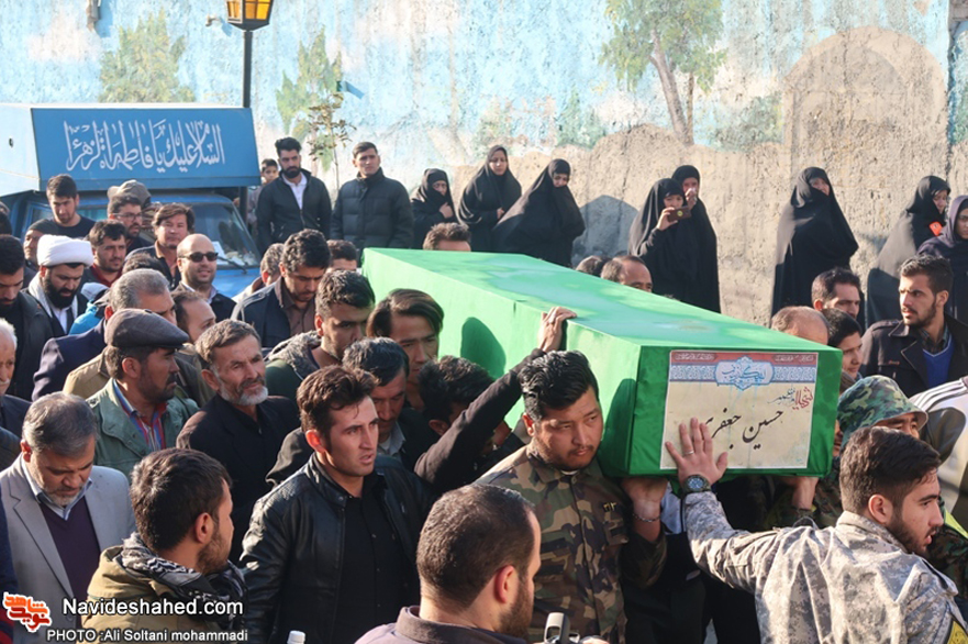 "Funeral procession of shrine defender martyr ""Hossein Jafari"" had been held in Firooz Abad/ images"