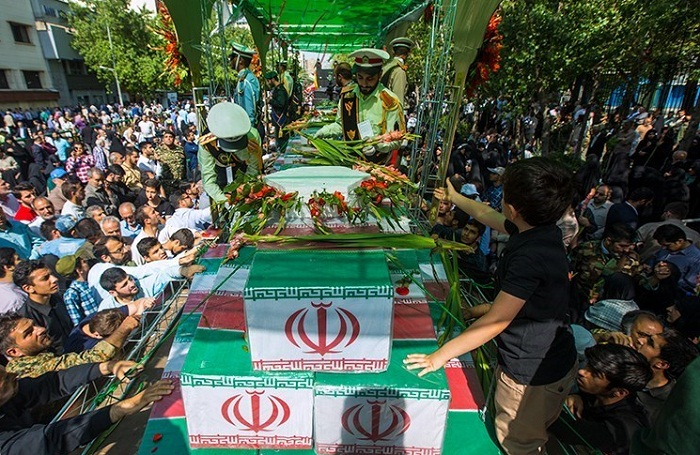 The funeral Ceremony of the 150 Iran's Sacred Defense martyrs