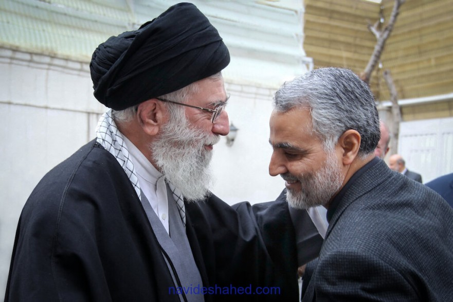 Photo: martyr Gen. Soleimani And Ayatollah Khamenei