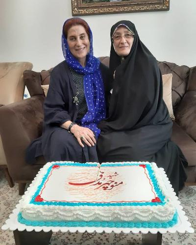 عکس/ فاطمه معتمدآریا در مراسم تولد یک شهید